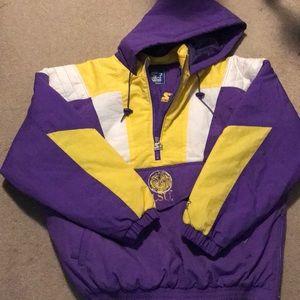 LSU💜💛💜💛 starter jacket. Never Worn